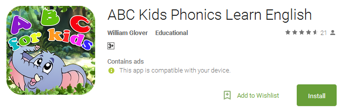 ABC Kids Phonics Learn App