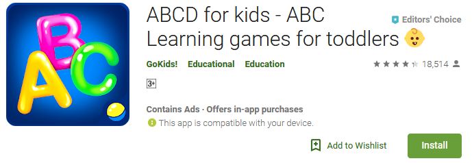 ABCD for kids - Learning games for toddlers