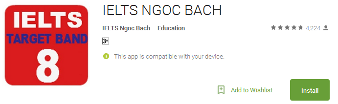 Download IELTS NGOC BACH App