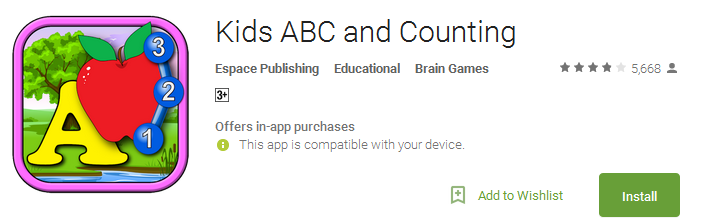 Kids ABC and Counting App
