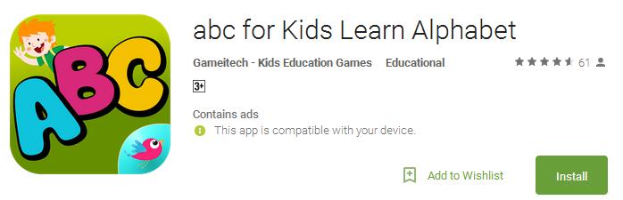ABC for Kids Learn Alphabet App
