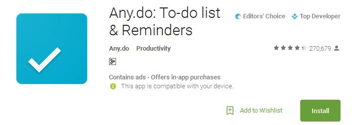 Any.do - Productivity App
