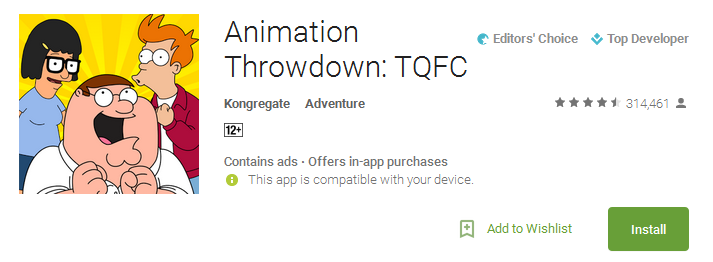 Animation Throwdown Game Download