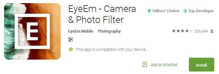 EyeEm - Camera & Photo Filter App