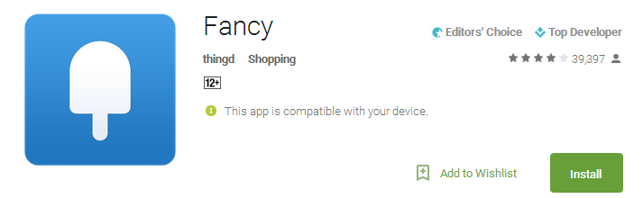 Fancy Shopping App