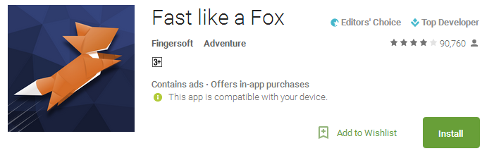 Fast like a Fox App