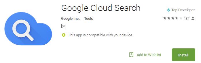 Google Cloud Search App
