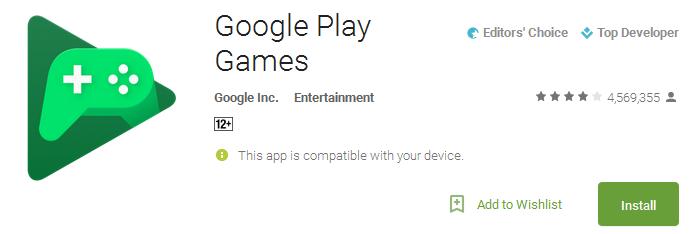Google Play Games App