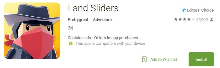 Land Sliders App