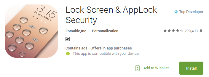 Lock Screen & AppLock Security Apps