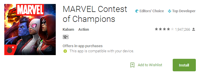 MARVEL Contest of Champions App