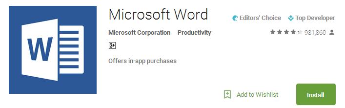 Download Microsoft Word App