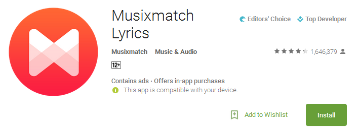 Musixmatch Lyrics App