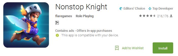 Nonstop Knight App