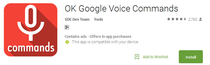 OK Google Voice Commands
