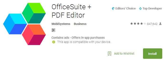 OfficeSuite + PDF Editor App