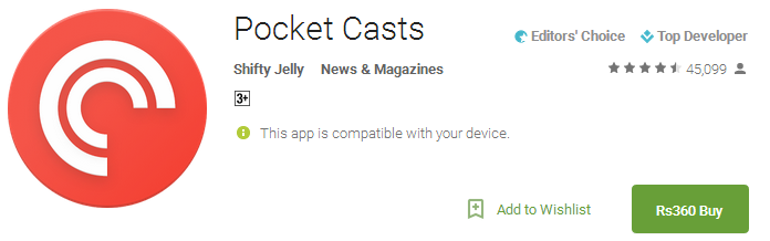 Pocket Casts App
