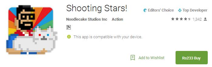 Shooting Stars App