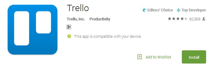 Trello Productivity App