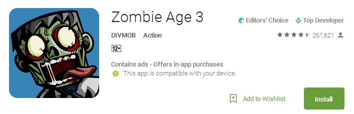 Zombie Age 3 App