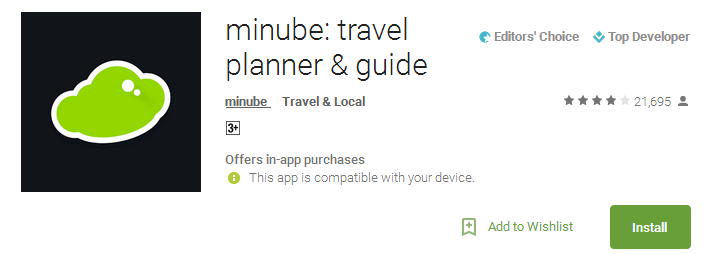 minube travel planner & guide