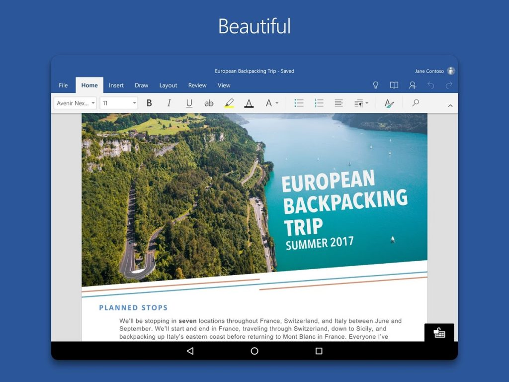 Free MICROSOFT WORD App FOR ANDROID