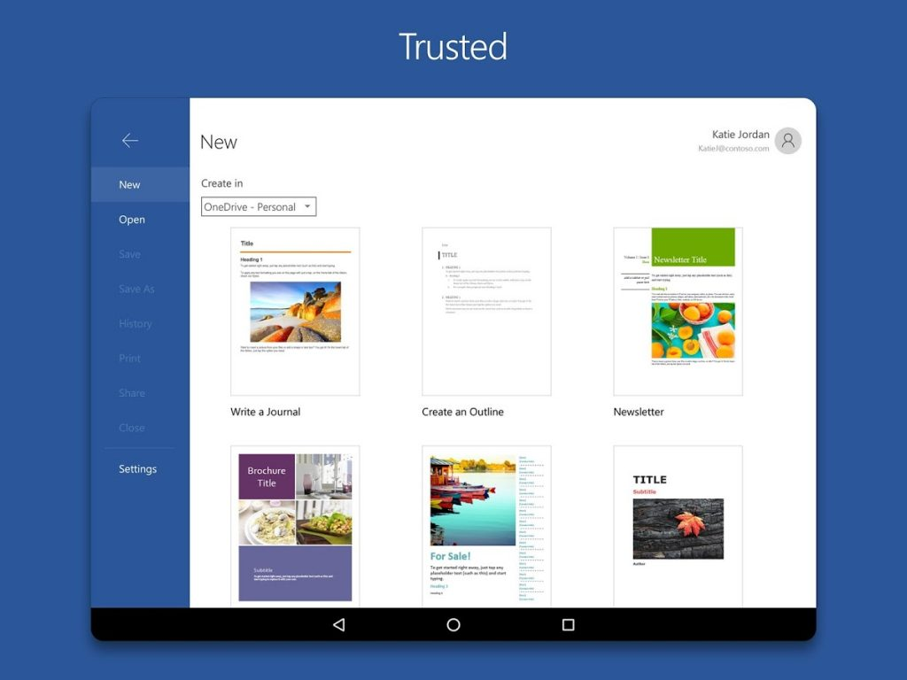 FREE MICROSOFT WORD FOR ANDROID