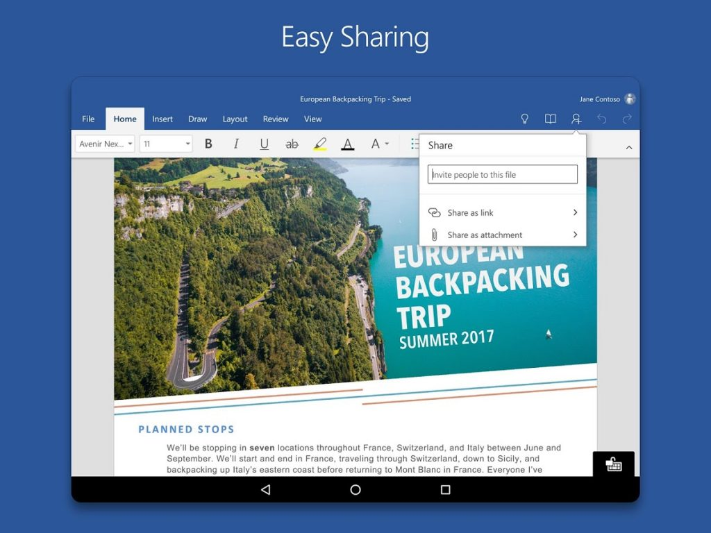 Download Microsoft Word for Android