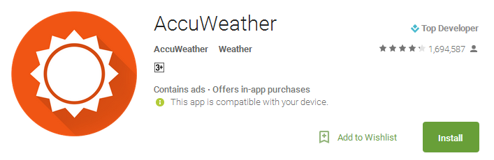 AccuWeather Apps
