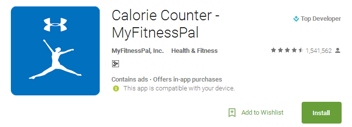 Calorie Counter - MyFitnessPal App
