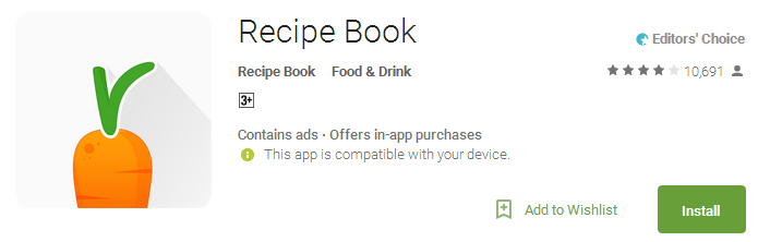 Cooking Recipe Book Apps