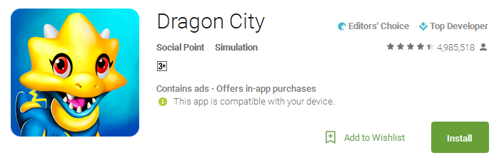 Download Dragon City App