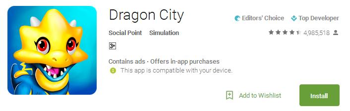 Download Dragon City App