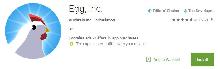 Download Egg Inc App