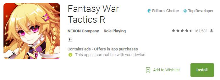 Download Fantasy War Tactics R App