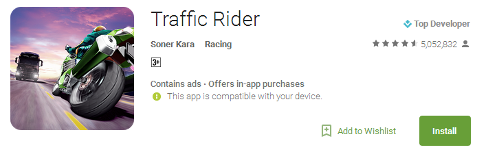 Download Traffic Rider - Racing games online