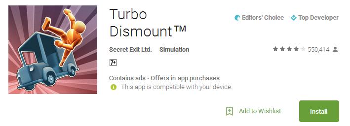 Download Turbo Dismount App
