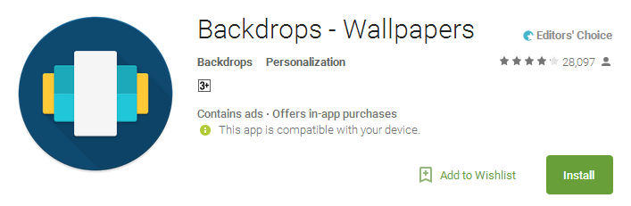 Download backdrops wallpaper App