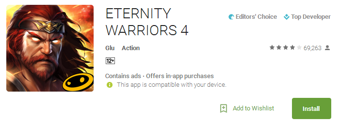 ETERNITY WARRIORS 4 App