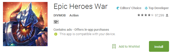Epic Heroes War App