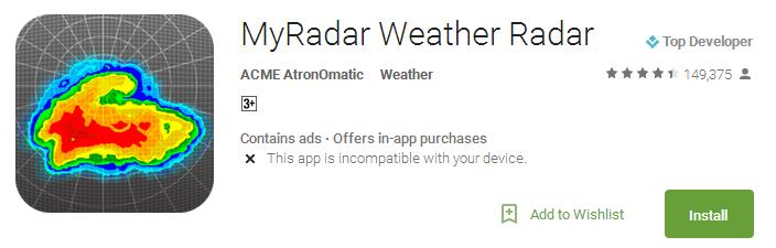 MyRadar Weather Radar App