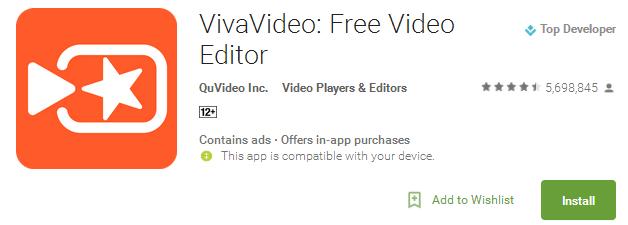 VivaVideo - Free Video Editor App