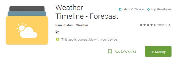 Weather Timeline - Forecast App
