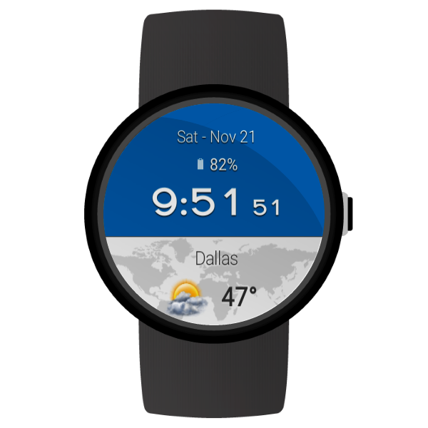 Weather and Clock Widget Android App