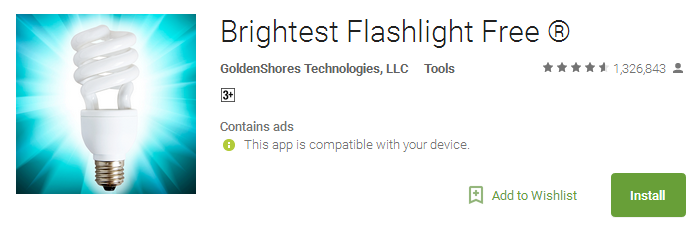 Brightest Flashlight App Free