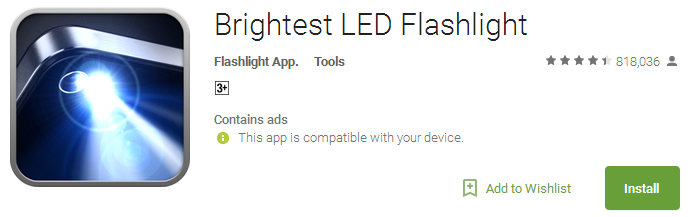 Brightest LED Flashlight App