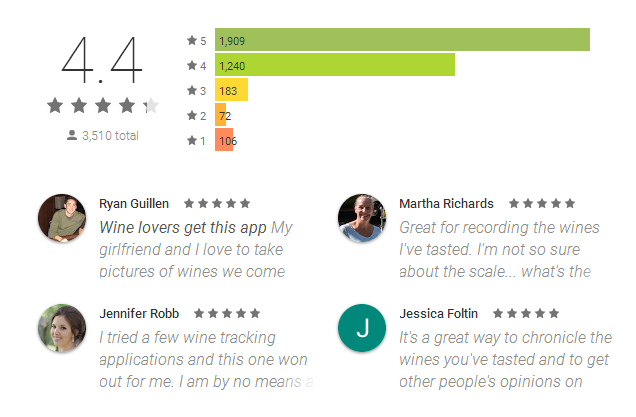 Delectable Wine App Reviews