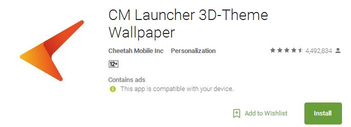 Download CM Launcher 3D App