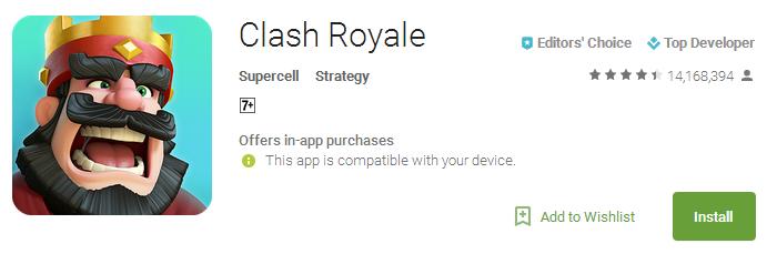 Download Clash Royale App