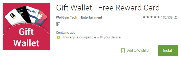 Download Gift Wallet - Free Reward Card
